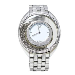Versace White Stainless Steel Destiny Spirit 86Q Women's Wristwatch 39 mm