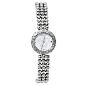 Versace White Stainless Steel Eon Soiree 94Q Quartz Women's Wristwatch 27 MM