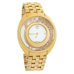 Versace Gold Plated Stainless Steel Destiny Spirit 86Q Women's Wristwatch 39 mm