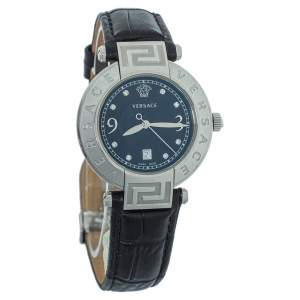 ساعة يد نسائية فيرساتشي ريف 68كيو ستانلس ستيل سوداء 35 مم