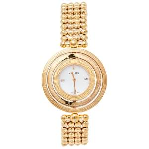 Versace Mother of Pearl Gold Plated Stainless Steel Eon 80Q Women's Wristwatch 39 mm