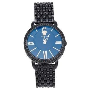 ساعة يد نسائية فيرساتشي كريوس M6Q60D008 ستانلس ستيل مطلي أيون سوداء 38 مم