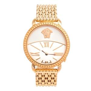 Versace White Gold Plated Stainless Steel Krios 93Q Women's Wristwatch 38 mm