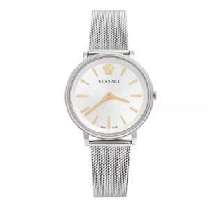 Versace Silver Stainless Steel V-Circle VRSCVBP050017 Women's Wristwatch 38 mm