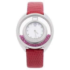 ساعة يد نسائية فيرساتشي ديستني سبيريت 86Q صدف جلد ستانلس ستيل 40 مم