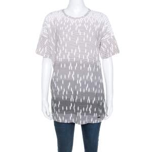 Versus Versace Pale Pink Printed Cut Out Back Detail T-Shirt L