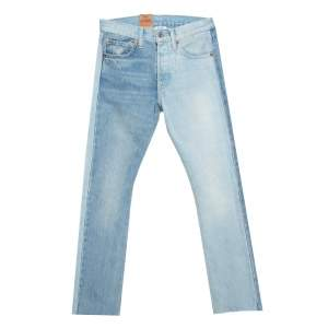 Vetements X Levi's Blue Two Tone Denim Straight Leg Jeans XS