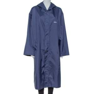 Vetements Navy Blue Aries Zodiac Detail Rain Coat (One Size)