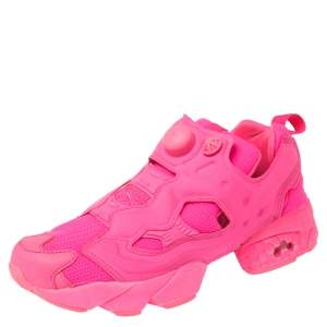 Vetements x Reebok Fluorescent Pink Nylon And Fabric Instapump Fury Sneakers Size 38.5