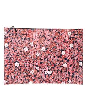 Victoria Beckham Multicolor Floral Print Large Simple Pouch