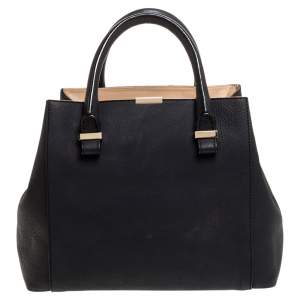 Victoria Beckham Black Leather Quincy Tote