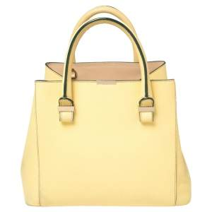 Victoria Beckham Lime Leather Liberty Tote