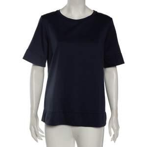 Weekend Max Mara Navy Blue Cotton Round Neck T-Shirt L