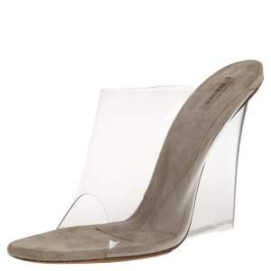 Yeezy Transperant/Tale Green PVC Season 6 Mule Sandals Size 40