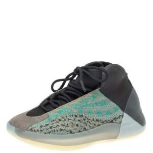 Yeezy Teal Blue Primeknit/Suede YZY QNTM Basketball Sneakers Size 39 1/3