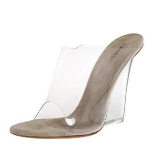 Yeezy Transperant PVC Season 6 Mule Sandals Size 38.5