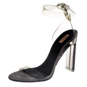 Yeezy Season 6 White PVC Ankle Strap Sandals Size 40
