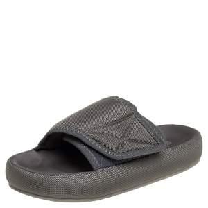 Yeezy Season 6 Grey Nylon Flat Sandals Size 40