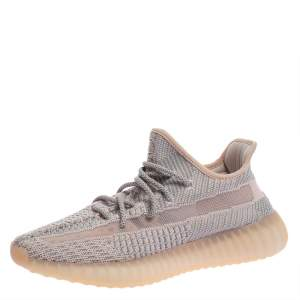 Yeezy x adidas Pink/Grey Knit Fabric Boost 350 V2 Synth Non-Reflective Sneakers Size 40 2/3