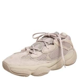 حذاء رياضي ييزي x أديداس سويدي 500 رصاصي فاتح وتريكو قطن بيج مقاس 40 2/3