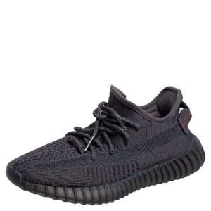 حذاء رياضي  اديداس X ييزي 350 V2 ستاتيك قماش تريكو أسود بعنق منخفض مقاس 37 1/3