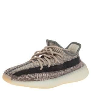 Yeezy x Adidas Grey/Brown Cotton Knit 350 Zyon Sneakers Size 36