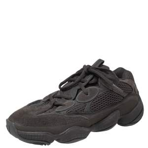 Yeezy x Adidas Black Suede and Mesh Yeezy 500 Utility Sneakers Size 38