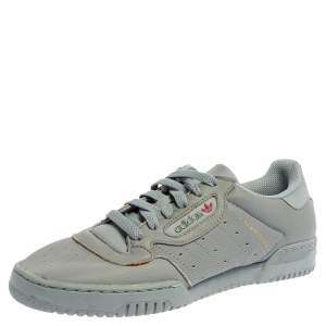 Yeezy x Adidas Grey/Blue Leather Powerphase Calabasas Sneakers Size FR41 1/2