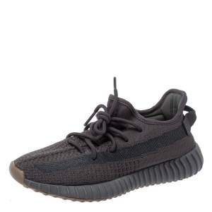 Yeezy x Adidas Dark Grey Cotton Knit Boost 350 V2 Cinder Sneakers Size 40 2/3