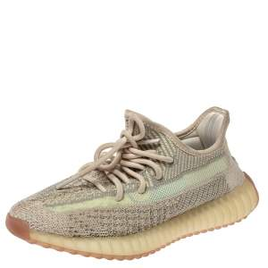 Adidas Yeezy 350 Green/Beige Knit Fabric V2 Citrin Sneakers Size 38.5