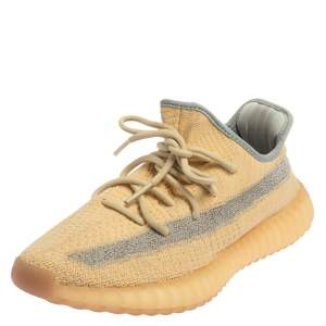 Yeezy x Adidas Beige Cotton Knit Boost 350 V2 Sneakers Size 40.5