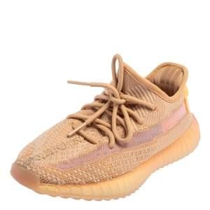 حذاء رياضي كلاي أديداس X ييزي بوست 350  V2 قماش تريكو بيج مقاس 38