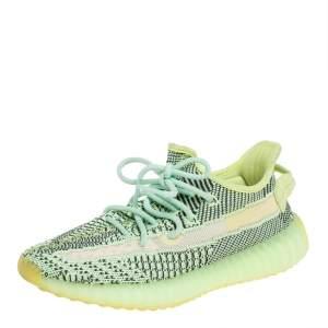 Yeezy x Adidas Green Knit Fabric Boost 350 V2 Yeezreel Size 38