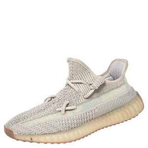Yeezy x adidas Green Knit Fabric Boost 350 V2 Citrin Sneakers Size 41 1/3