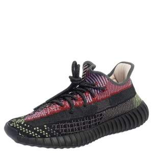 Yeezy x Adidas Multicolor Knit Fabric Boost 350 V2 Yecheil (Non-Reflective) Sneakers Size 41.5