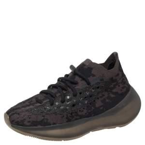Yeezy x adidas Black Knit Fabric Boost 380 Onyx Sneakers Size 38