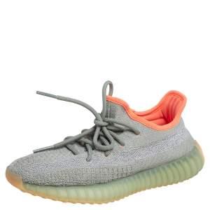 حذاء رياضي  اديداس X ييزي بوست 350 V2 ديزيرت ساغ قماش تريكو قطن أخضر/ رصاصي مقاس 37.5