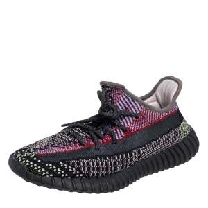 Yeezy x Adidas Multicolor Knit Fabric Boost 350 V2 Yecheil (Non-Reflective) Sneakers Size 41 1/3