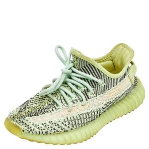 Yeezy x adidas Green Knit Fabric Boost 350 V2  Yeezreel Low Top Sneakers Size 37 1/3