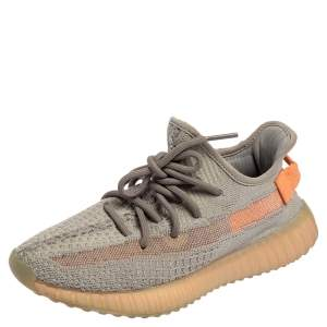Yeezy x adidas Grey Cotton Knit Boost 350 V2 True Form Sneakers Size 37 1/3