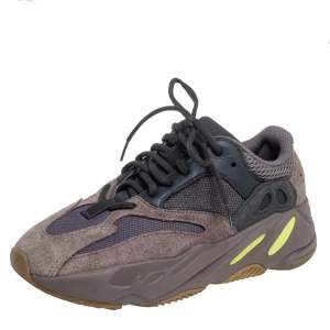 Yeezy x adidas Brown/Grey Mesh and Suede Boost 700 Mauve Sneakers Size 38 2/3