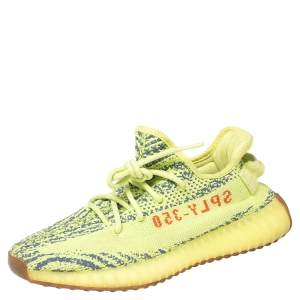 Yeezy x Adidas Green Cotton Knit Boost 350 V2 Sneakers Size 38 2/3