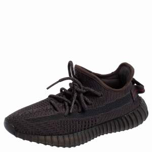 Yeezy x Adidas Black Cotton Knit Boost 350 V2 Black Static Sneakers Size 38 2/3