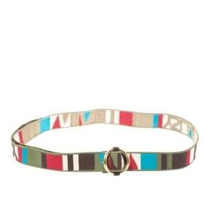Saint Laurent Multicolor Woven Fabric Hip Belt Size 90