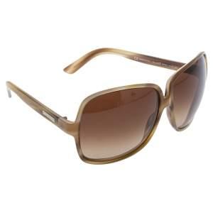 Yves Saint Laurent Beige/Brown Gradient YSL 6134/S Oversized Sunglasses