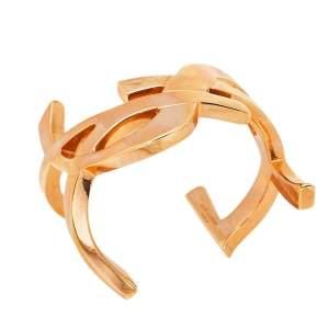 Yves Saint Laurent Rose Gold Tone Monogram Cuff Bracelet