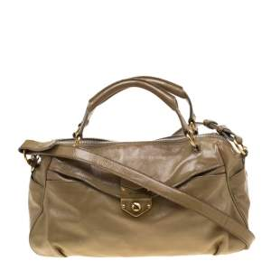Saint Laurent Paris Beige Patent Leather Satchel