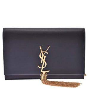 Yves Saint Laurent Black Leather Kate Chain Shoulder Bag