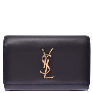 Yves Saint Laurent Black Leather Kate Belt Bag