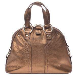 Yves Saint Laurent Gold Leather Muse Bag